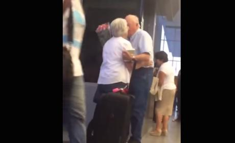 Elderly Couple Proves That Love, Actually, Is All Around Us.