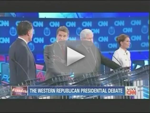 Rick Perry and Mitt Romney Argue at GOP Debate