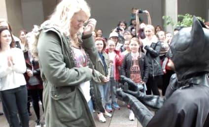 Batman-Costumed Boyfriend Proposes Via Flash Mob