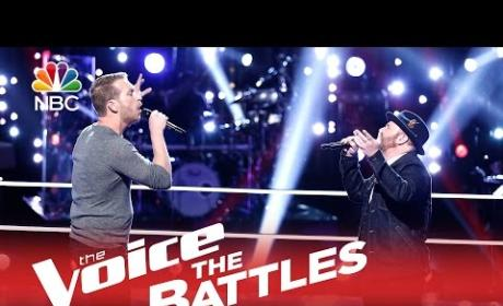 Barrett Baber vs. Dustin Christensen (The Voice Battle Round)