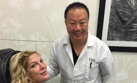 Tori Spelling Instagrams Plastic Surgery Visit, Likely Regrets It