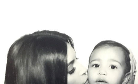 Kim Kardashian Kisses North West, Posts New Family Photos