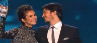 Nina Dobrev & Ian Somerhalder Win People's Choice Award, Reference Real-Life Split