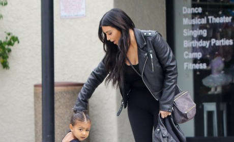 North West Loves Kissing Kim Kardashian's Tummy