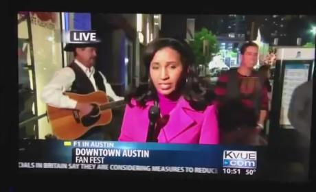 Drunk Lady Video Bombs Local News, Reporter Responds Like a Boss