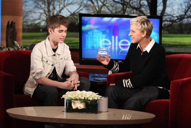 Justin Bieber on Ellen