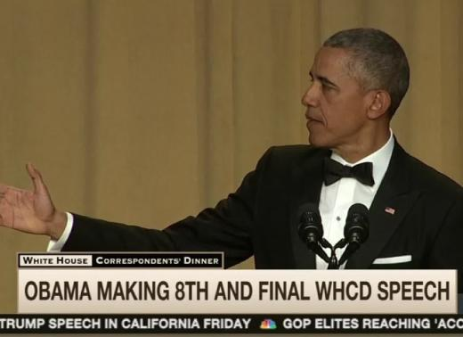 President Obama at the White House Correspondent's Dinner