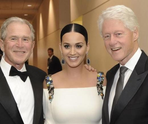 Katy Perry, Bill Clinton and George W. Bush