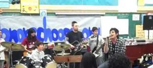 Adam Lambert Sings with Students