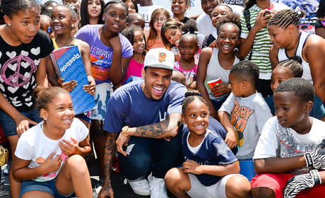 Chris Brown: Donating Shoes For Unity Campaign (Sponsored By Reebok)