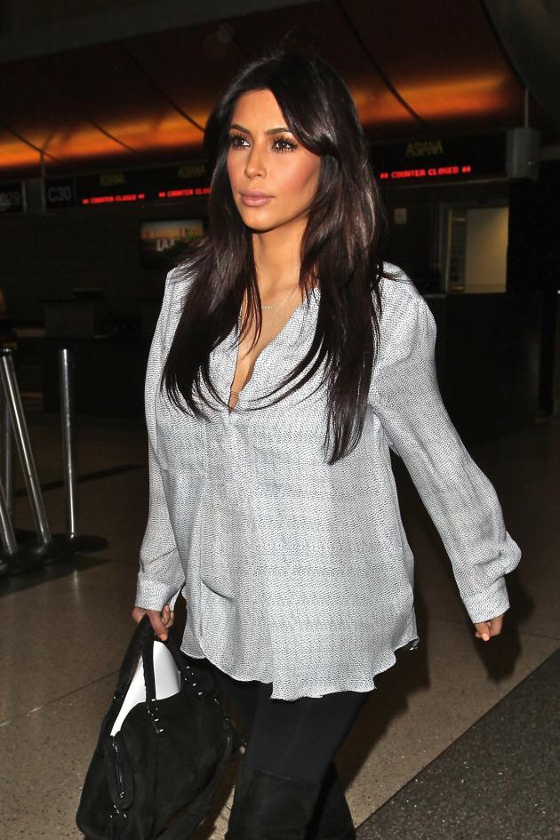 Pregnant Kim Kardashian Image