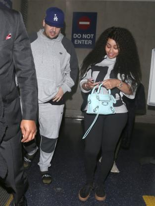 Rob Kardashian and Blac Chyna return from Jamaica