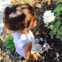 North West with Flowers