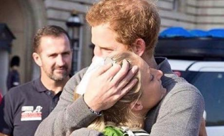 Prince Harry Embraces Wounded Vet Kirstie Ennis