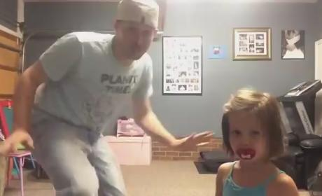 "Father and Daughter Engage in EPIC Dance Routine to ""All About That Bass"""