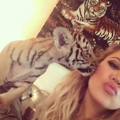 Khloe Kardashian and Baby Tiger