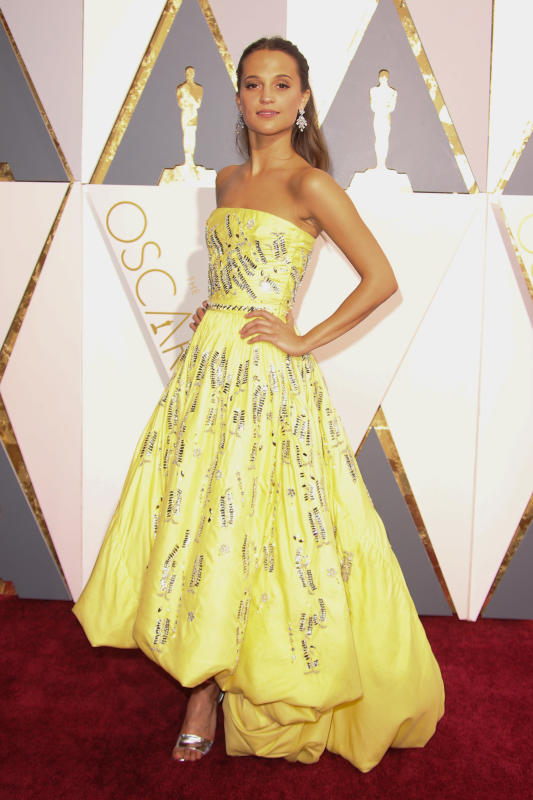 Alicia Vikander at the Academy Awards