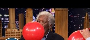 Morgan Freeman Sucks Down Helium on The Tonight Show, Talks Beekeeping