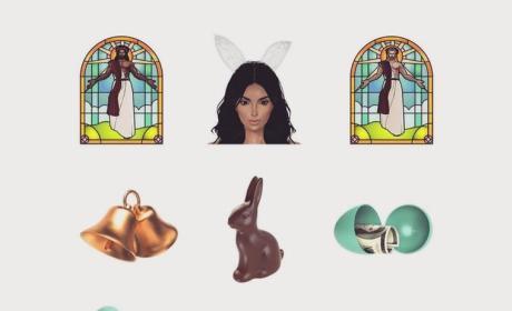 Kim Kardashian Celebrates Easter with Black Jesus Kimoji