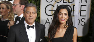George Clooney, Amal Alamuddin at the Golden Globes
