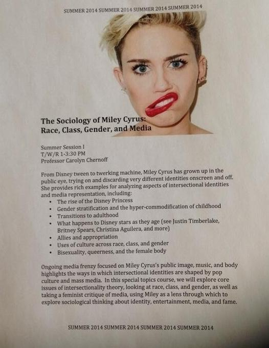 The Sociology of Miley Cyrus Syllabus