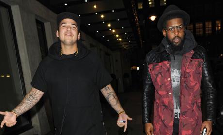 Rob Kardashian with a Friend