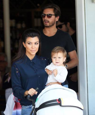 Kourtney Kardashian with Family