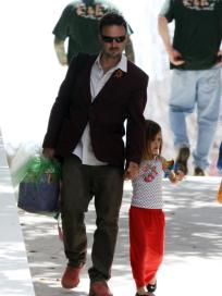 David Arquette and Daughter