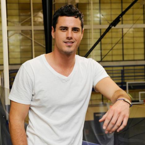 Ben Higgins in a white T-shirt