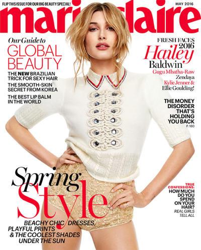 Hailey Baldwin on Marie Claire