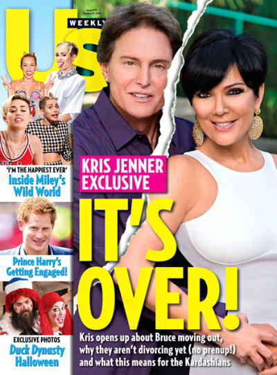 Kris Jenner and Bruce Jenner Tabloid Cover