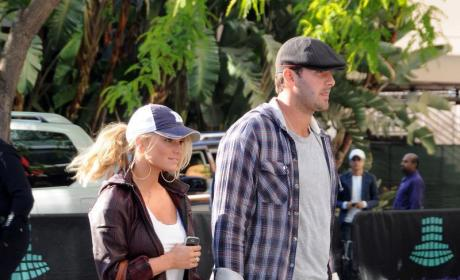 Jessica Simpson, Tony Romo Attend NBA Finals