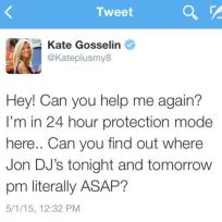 Kate Tweets About Jon