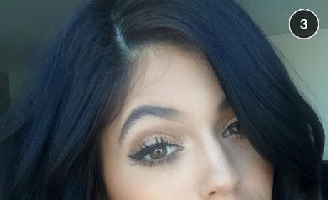 Kylie Jenner Snapchat Selfies: Holy Cleavage! (And Tyga!)