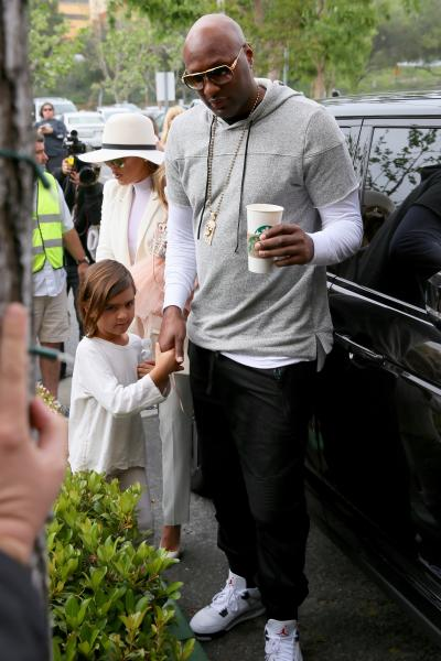 Lamar Odom, Khloe Kardashian on Easter Sunday