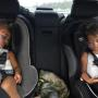 North West in a Car Seat