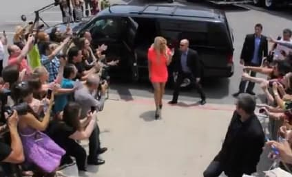 Britney Spears Arrives at X Factor Auditions, Possibly Walks Off Set on First Day