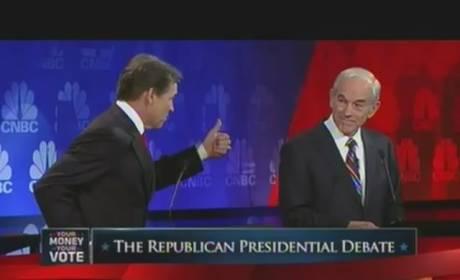 Oops: Rick Perry Campaign Goes Down in Flames at GOP Debate