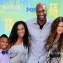 Lamar Odom with Khloe and His Kids