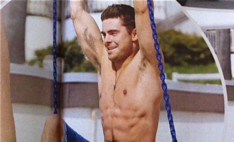 Zac Efron Shows Off Physique, New Tattoo