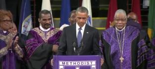 President Obama Sings Amazing Grace Following Clementa Pinckney Eulogy