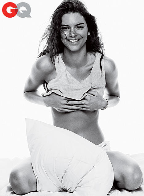 Kendall jenner topless in gq