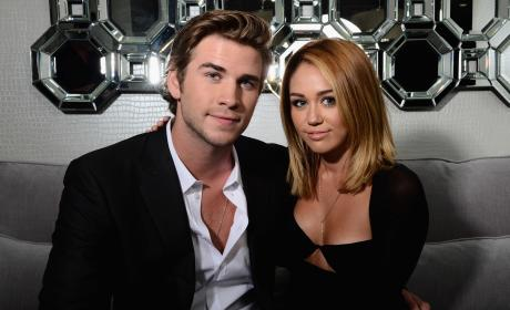 Liam Hemsworth & Miley Cyrus in 2012