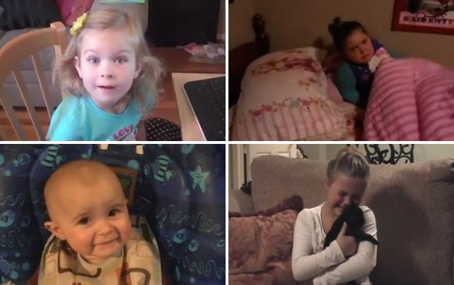Adorable girl reacts to disneyland birthday present