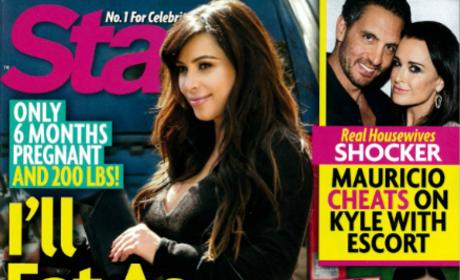 Kim Kardashian: Eating! Profiting from Pregnancy! Endangering Fetus!