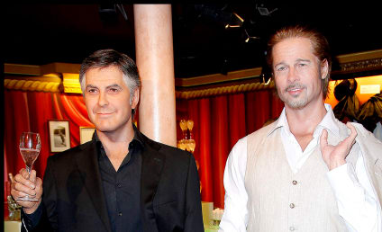 Brad Pitt, George Clooney Get Waxed