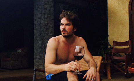 Ian Somerhalder, No Shirt!