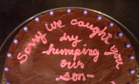Parents Bake Apologetic Cake, Tell Son's Girlfriend: Sorry We Caught You Dry Humping!