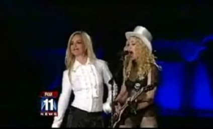 Britney Spears Joins Madonna on Stage