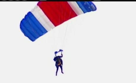 George H.W. Bush Celebrates 90th Birthday...By Skydiving!
